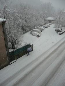 Champeix sous la neige